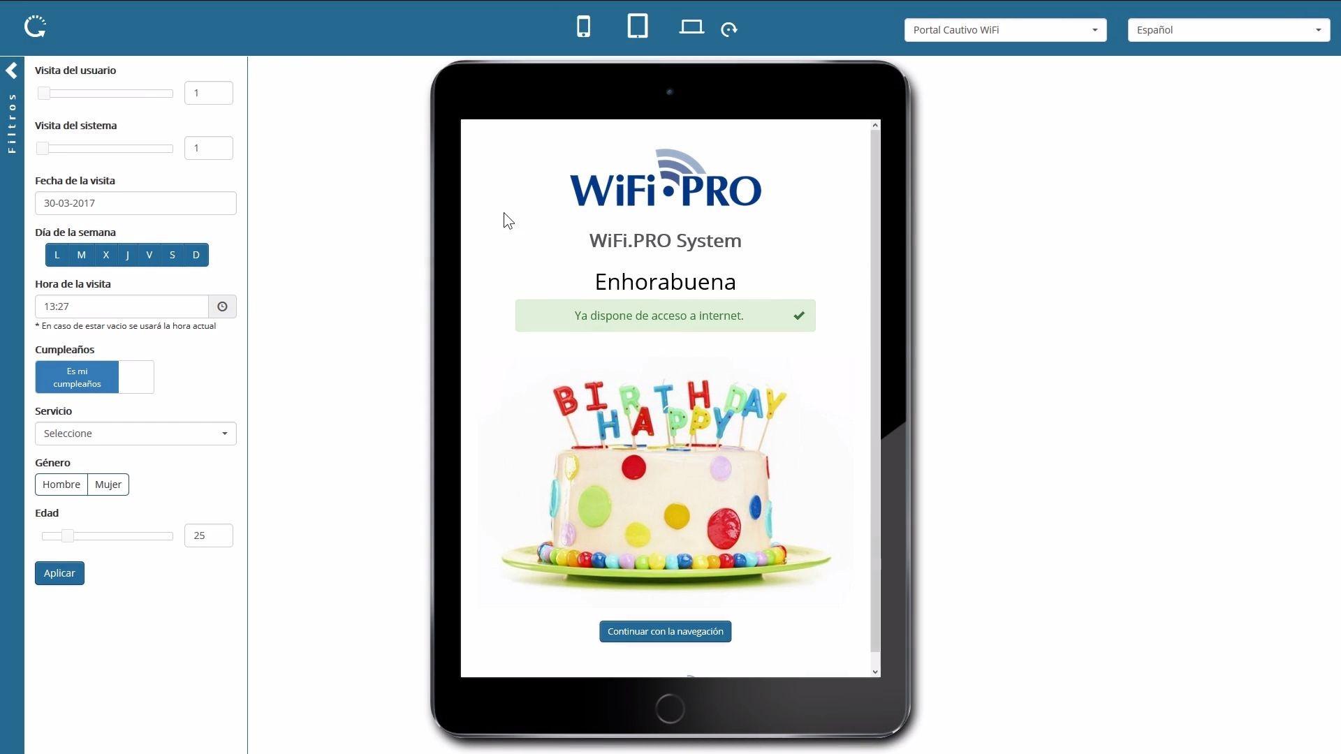 WiFi.PRO - 11 Portal cautivo comunicacion programatica